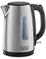 Black & Decker 1.7L Concealed Coil Stainless Steel Kettle, Jc450-B5, Silver