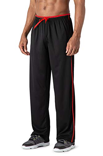 MAGCOMSEN Mens Joggers Tracksuit Bottoms Open Hem Lightweight Quick Dry Trousers Drawstring with Zip Pockets Sweatpants
