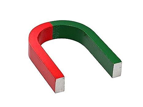 h/ält 2,6 kg die heutzutage hergestellt werden Aluminium-Nickel-Cobalt Magnete geh/ören zu den st/ärksten Magneten Sie sind ideal zum Experimentieren Hufeisenmagnet Schulmagnet 28 x 25 x 8mm AlNiCo rot