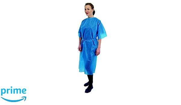Bata mangas cortas Premier desechable, color azul, paquete por 50 (5521): Amazon.es: Salud y cuidado personal
