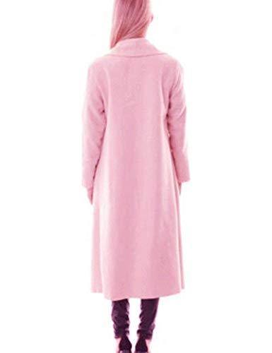 Manga Windbreaker Larga Abrigos Primavera Anchas Chaquetas Asimetricas Casuales Irregularmente Mujer Largos Gabardina Outerwear Retro Otoño Pink YXtq0Ww
