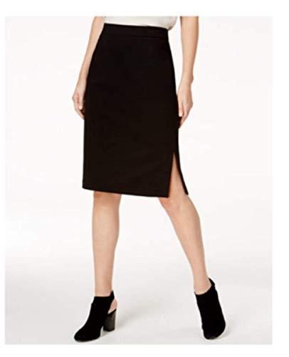 Eileen Fisher Tencel Stretch Ponte Black Skirt XS S M (M)