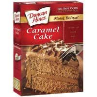 Amazon Com Duncan Hines Moist Deluxe Caramel Cake Mix 18