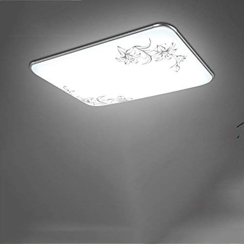 Creative Table Lamp Desk Lamp Ceiling Lamp rectangular remote control big Living Room Lighting Bedroom Light dining Room Lamp balcony Lamp, flower 6543 highlight white 48w Using for Reading, Working by OVIIVO (Image #6)