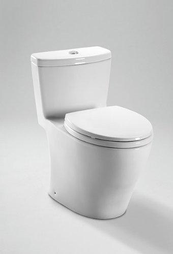 Toto MS654114MF#01 1.6GPF and 0.9GPF Aquia One-Piece Toilet, (Aquia Dual Flush Toilet)
