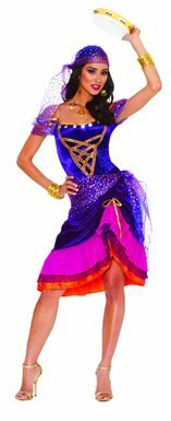 [Womens Sexy Gypsy Halloween Costume Size Medium] (Halloween Costumes Violet)