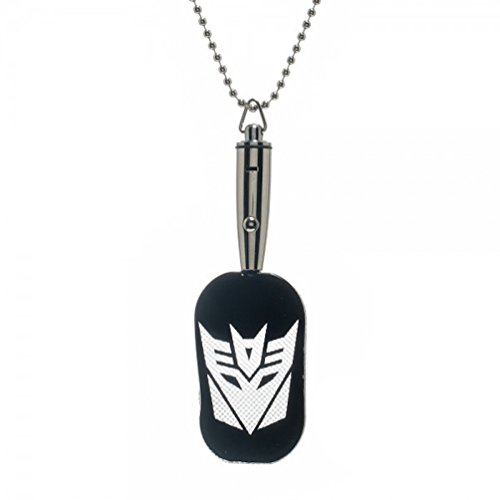 Transformers Decepticon Purple LED Light Up Dog Tags Pewterball Chain (Transformers Dog Costume)