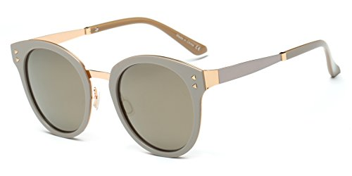 Cramilo Fashion Designer Polarized Round Cateye Sunglasses for - Sunglasses Makes Polarized What