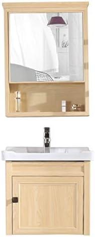 シンク周り用品 バスルームのシンクの壁は洗面スペースアルミミラーキャビネット盆地ストレージキャビネットコンビネーションバスルームバルコニーバニティをマウント (Color : Brown, Size : 70cm)