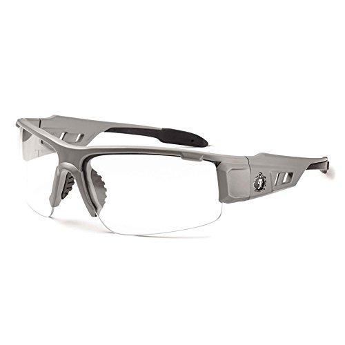 - Ergodyne Skullerz Dagr Anti-Fog Safety Glasses-Matte Gray Frame, Clear Lens