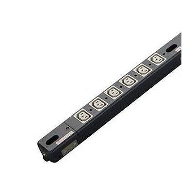 明工社 設備工事用配線器具 ラック用200Vコンセントバー 30Aタイプ 安全ブレーカ付 C13×12コ口 ME8709 B00Y1U991Q