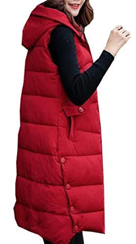 シェトランド諸島支払う余裕があるFly Year-JP 女性のファッションコットンパッドラペルカラーは、アウトコートコートロングダウンパフベストジャケット