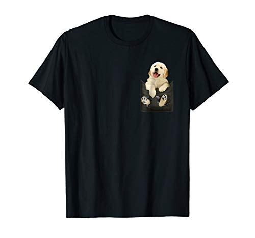 - Golden Retriever In Pocket Puppy Mom T Shirt