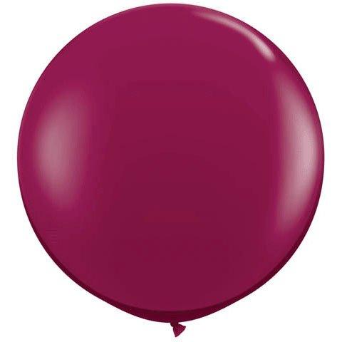 Qualatex Giant Burgundy Latex Balloon Package of -