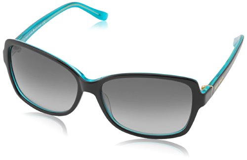 Kate Spade Womens Ailey Sunglasses Black Turquoise Frame/Grey Gradient Lens