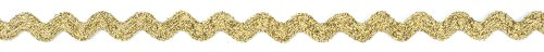 Dove of the East Golden Sparkle Ricrac for Scrapbooking, -