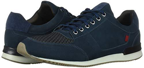 MARC JOSEPH NEW YORK Men's Leather Made in Brazil Luxury Fashion Trainer Sneaker, Navy Nubuck, 11.5 M US