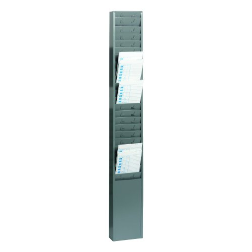 Mmf Time Card (STEELMASTER 25-Pocket Steel Time Card Rack, 5.13 x 36 x 2 Inches, Gray (270R1TCRGY))