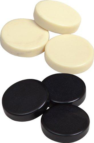 Bello Games Uria Stone Backgammon Checkers (Black & Ivory, 1