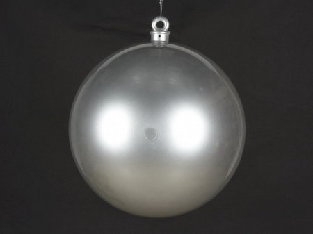 Queens of Christmas WL-ORN-BALL-600-SLV Smooth Ball Ornament, 600mm, Silver