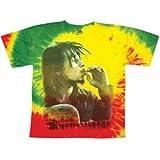 Bob Marley Men's Rasta Smoke Tie Dye T-shirt Tie-Dye 2XL