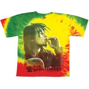 Bob Marley Men's Rasta Smoke Tie Dye T-Shirt Tie-Dye M