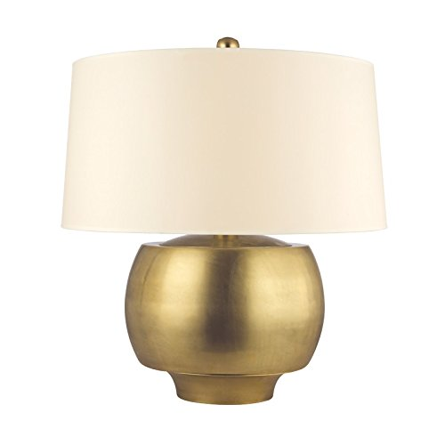 Hudson Valley Lighting Holden 1-Light Table Lamp - Aged Brass Finish with Cream Eco-Paper Shade -  L164-AGB
