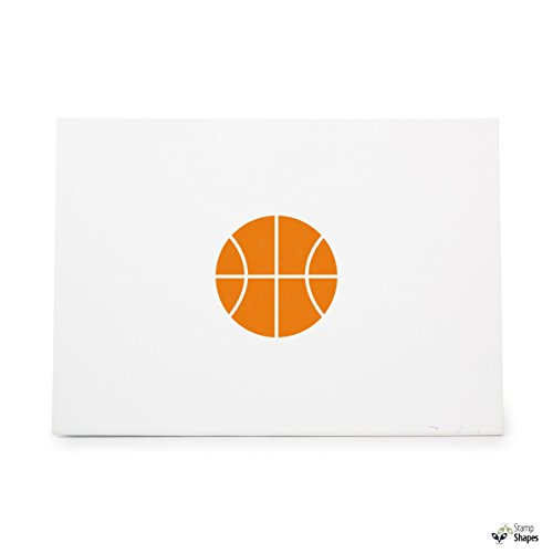Basketball Basket Ball, Rubber Stamp Shape great for Scrapbooking, Crafts, Card Making, Ink Stamping Crafts, Item 22435