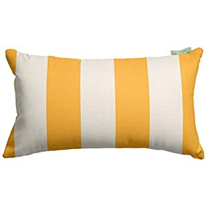 Majestic Home Goods Yellow Vertical Stripe Small Pillow