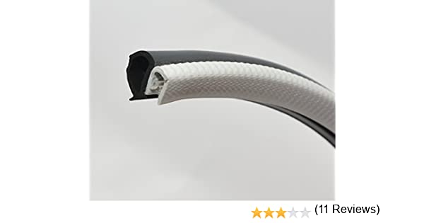 gris Burlete de goma para las puertas del coche en color gris |16 mm de altura x 13,6 mm de anchura aprox | Rango de agarre: 1,0-3,5 mm aprox. | Grosor del borde: 3,8 mm aprox