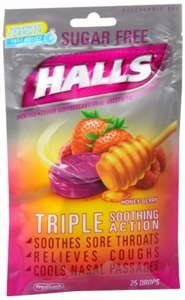 Halls Cough Drops Sugar Free Honey Berry 25 Ct Pack of (Drops Sugar Free Honey)