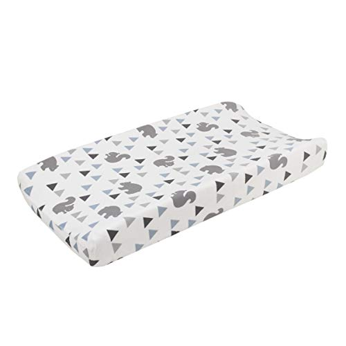 - NoJo Mountain Patchwork Soft Plush Velboa Changing Pad Cover, Grey/Denim/Slate Blue/White
