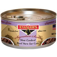 Evangers Signature Series Slow Cooked Beef Stew Canned Cat F
