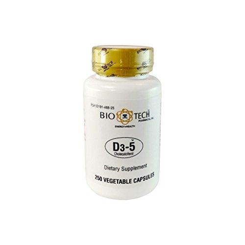 Biotech D3-5 250 Vegetarian Capsules