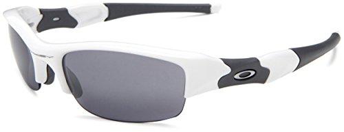 Oakley Flack Jacket Polished White Frame Black Iridium Lens 03-882