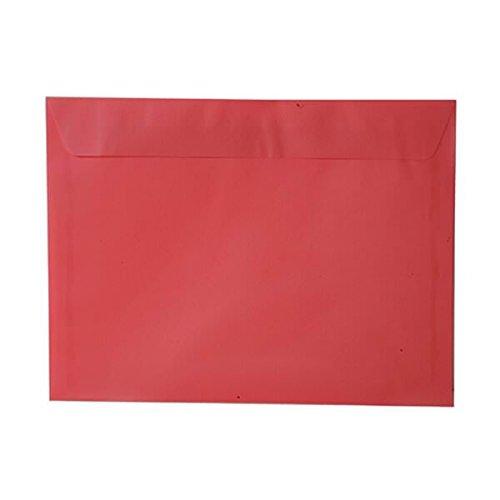 JAM PAPER 9 x 12 Booklet Translucent Vellum Envelopes - Watermelon Red - 25/Pack