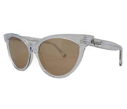 DSquared DQ 0101 22B Clear Slim Cateye Full Rim - Sunglasses Dq