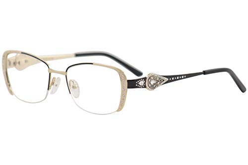 Caviar Eyeglasses M2620 M/2620 C24 Gold/Black Half Rim Optical Frame 52mm