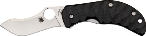 Spyderco Jens Anso Zulu Black G-10 PlainEdge Knife (Spyderco Training Knives)