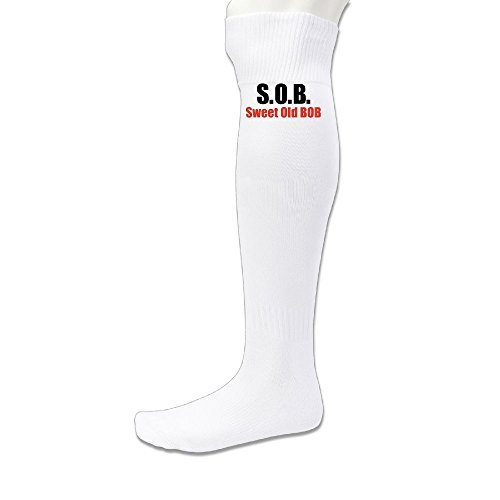 Hexu Men's S.O.B Particular Soccer Socks Sports Team White