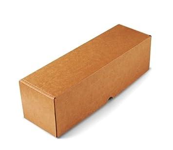 Caja para envíos alargada en microcanal color kraft muy resistente. Envia botellas. Pack de 50 unidades. - S