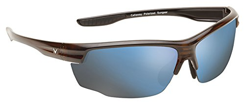 Callaway  Sungear Kite Golf Sunglasses - Tortoise Plastic Frame, Brown Lens w/Blue - Makes Better Sunglasses Polarized What