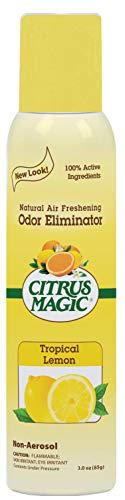 Citrus Magic Natural Odor Eliminating Air Freshener Spray, Tropical Lemon, - Fresheners Do Air Me
