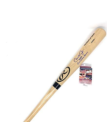 - Cal Ripken Jr Baltimore Orioles Signed Autograph Blonde Rawlings Baseball Bat 2632 Consecutive Games Inscribed JSA Witnessed Certified