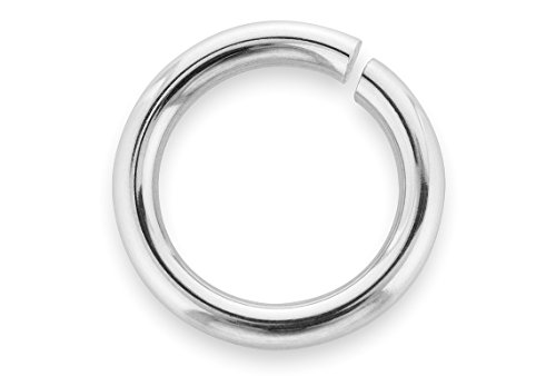 100 Pieces Sterling Silver Open Jump Rings 6 mm 22 Gauge