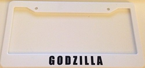 Godzilla Words - Automotive White License Plate Frame - Gtr Jdm Racing (Godzilla License Plate Frame compare prices)