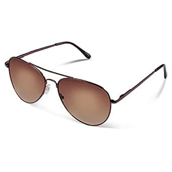Duduma Lente Antirreflejante Completo Aviador UV400 Gafas de Sol con Diseño de Moda Retro Para Hombre y Para Mujer. (marco café con lente marrón)