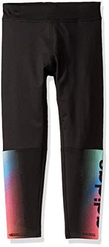 adidas Girls' Big Performance Tight Legging, Linear Fade Black, Medium (Adidas Girls Sportbands)