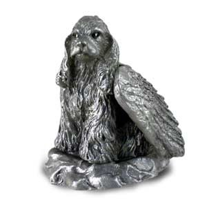 Cocker Spaniel Ornaments (Pewter Angel Cocker Spaniel Dog Ornament Figurine Statue)