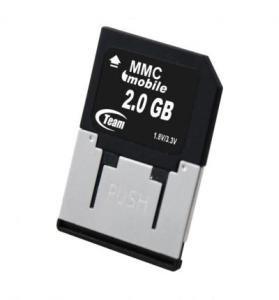 2 GB equipo móvil voltaje Dual MultiMedia tarjeta de memoria MMC ...